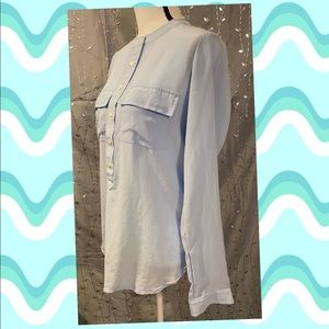 Gently worn size S Banana Republic silk blue shirt
